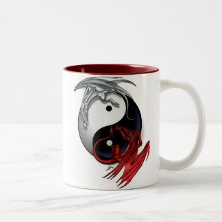 Ying Yang Two-Tone Coffee Mug