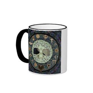 ying yang with religious symbols ringer mug