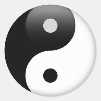Ying Yang - Yin and Yang Taoism Classic Round Sticker