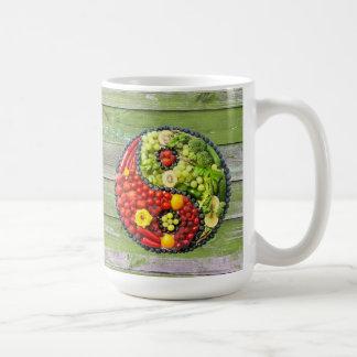 YinYang - Vegan harmony Green Wood Coffee Mug