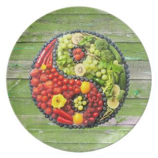 YinYang - Vegan harmony Green Wood Plate