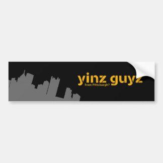 Yinz guyz bumper sticker