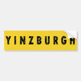 Yinzburgh Bumper Sticker