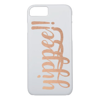 Yippee Copper Foil Grey Background Phone case