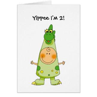 Yippee I'm 2! Card