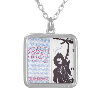 yippie! - chicago aug 1968 flyer silver plated necklace