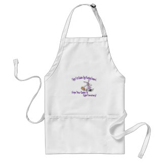 Yippy! It's Easter Egg Hunting Season! Adult Apron