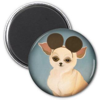 YIP's dog 6 Cm Round Magnet