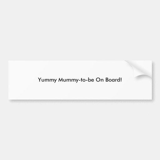 """""""YM London"""" Pregnancy Bumper Sticker"""