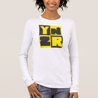 YNZR series black and yellow design Long Sleeve T-Shirt