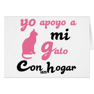 Yo apoyo a mi gato greeting card