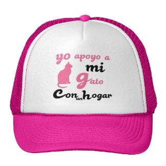 Yo apoyo a  mi gato mesh hat