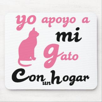 Yo apoyo a mi gato mouse pad