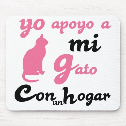 Yo apoyo a mi gato mousepad