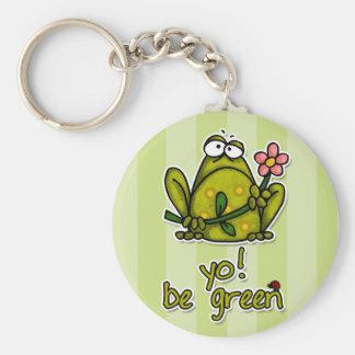 yo! be green key ring
