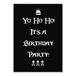 Yo Ho Ho Pirate Birthday Party Invitation