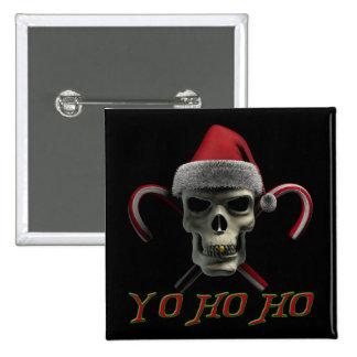 Yo Ho Ho Pirate Santa 15 Cm Square Badge