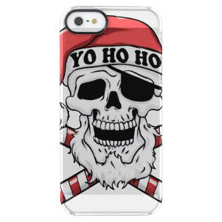 Yo ho ho - pirate santa - funny santa claus clear iPhone SE/5/5s case