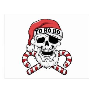 Yo ho ho - pirate santa - funny santa claus postcard