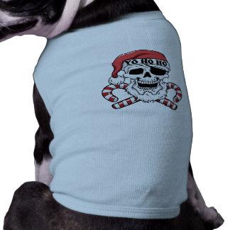 Yo ho ho - pirate santa - funny santa claus shirt