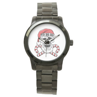 Yo ho ho - pirate santa - funny santa claus watch