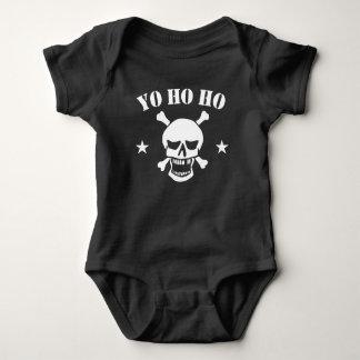 Yo Ho Ho Pirate Skull Baby Bodysuit