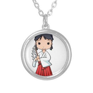 Yo! Miyako English story Omiya Saitama Yuru-chara Silver Plated Necklace