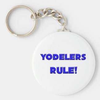 Yodelers Rule! Basic Round Button Key Ring