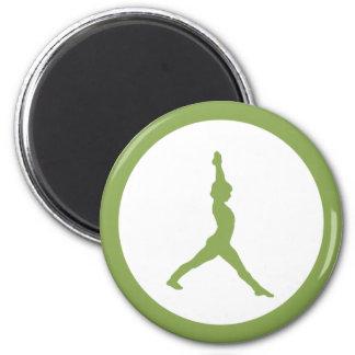 Yoga 6 Cm Round Magnet