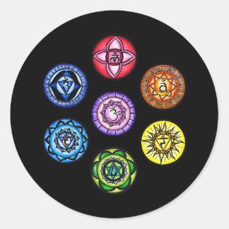 Yoga - 7 Chakras Energy Classic Round Sticker