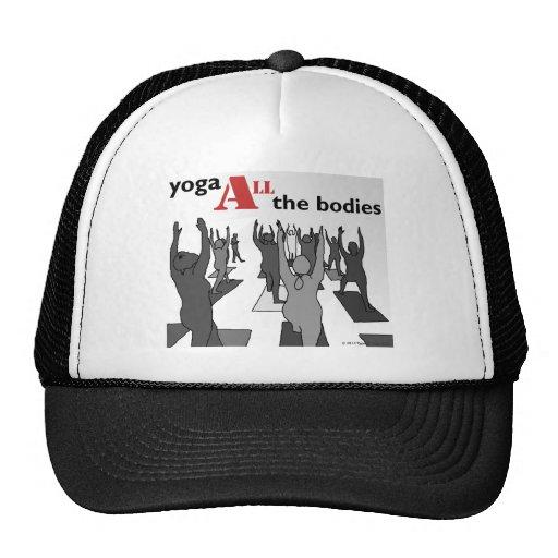 Yoga ALL the bodies! (B/W) Hat