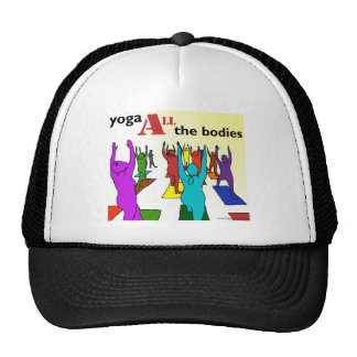 Yoga ALL the bodies (color) Mesh Hat