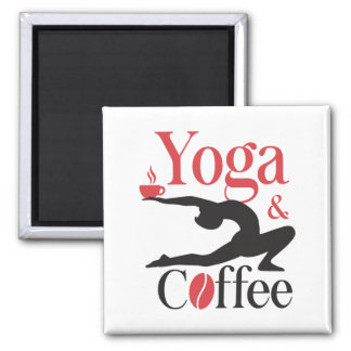 Yoga And Coffee Magnet