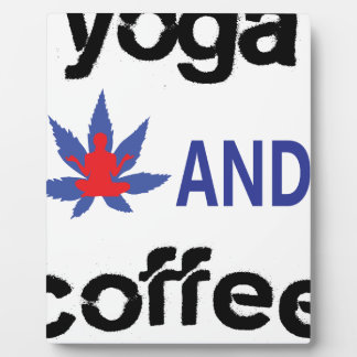 YOGA AND COFFEE PLAQUE