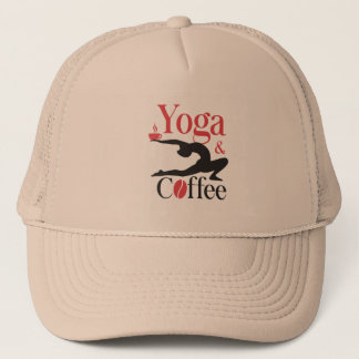 Yoga And Coffee Trucker Hat