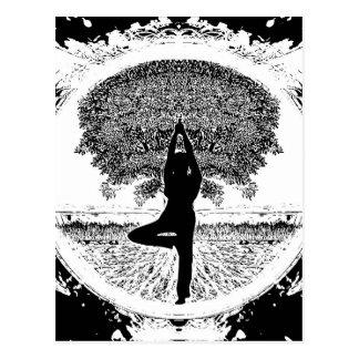 Yoga and Tree of Life Postcard