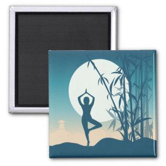 Yoga at Dawn Magnet