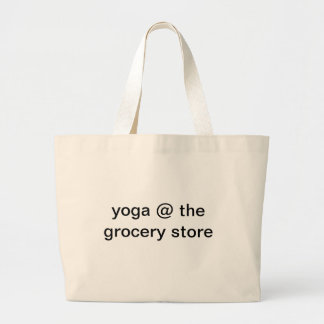 Yoga at Grocery Store Jumbo Tote Bag
