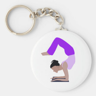 Yoga Basic Round Button Key Ring