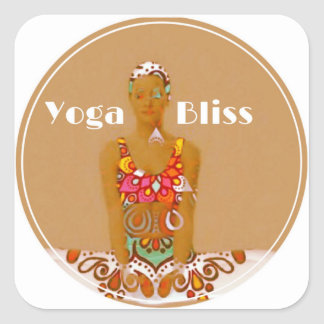 Yoga Bliss Gift Wrapping Series Square Sticker