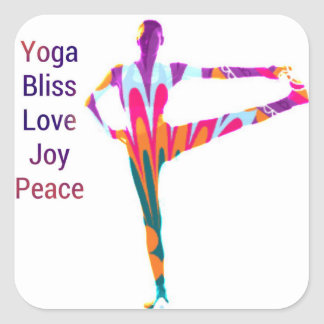 Yoga Bliss Joy Gift Wrapping Series Square Sticker