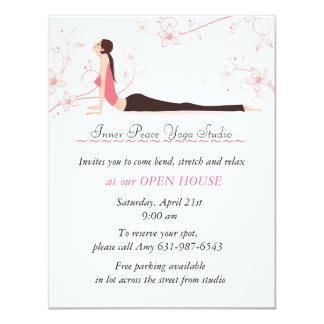 Yoga Blossoms Stationery Card 11 Cm X 14 Cm Invitation Card