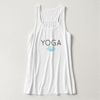 Yoga Blue Simple Lotus Tank