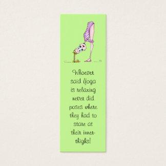 Yoga Bookmark Mini Business Card