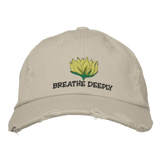 Yoga Breathe Deeply Embroidered Cap