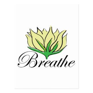 Yoga Breathe Gift Postcard