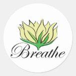 Yoga Breathe Round Sticker