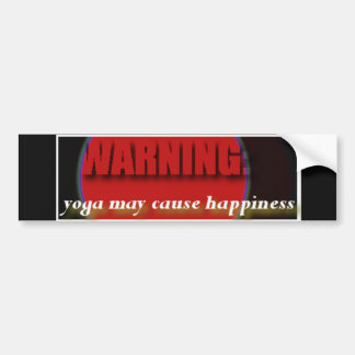 Yoga bumper sticker