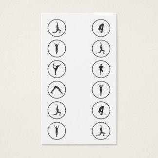 Yoga Business Card 12 Class Pass