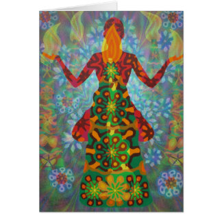yoga candle digitally - 2012 as greeting card